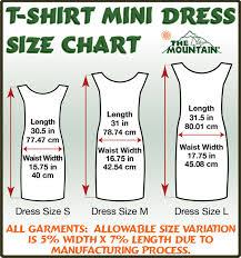 The Mountain Shirt Size Chart Sizing