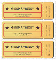 free ticket design template 6 movie ticket templates to design customized tickets