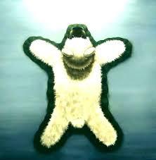 fake bear skin rug with head for teddy nursery faux polar bearskin r fake bear skin rug with head for faux