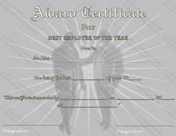 Employee Of The Year Certificate Template Free Best Employee Of The Year Award Certificate Template