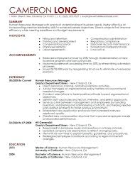 Entry Level Human Resources Resume Objective Hr Generalist Resume Objective 24