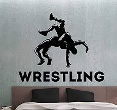 Wrestling Wall Decal Sports Stickers Home Interior Design Living Simple Wrestling Bedroom Decor