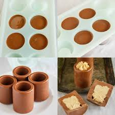 chocolate shot glasses with peanut er mousse 1
