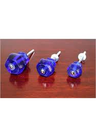 1 25 cobalt blue glass cabinet knobs pulls vintage dresser drawer hardware 10 pcs the kings bay