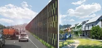 sound barrier walls. Highway Sound Barrier Wall Walls O