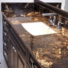 beautiful bathroom with granite countertops saturnia gold black and gold granite