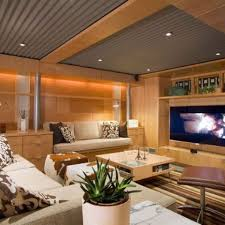 corrugated steel and wood ceiling