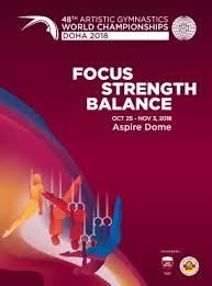 48th artistic gymnastics world chionships doha 2018 poster