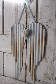 rusted corrugated metal roofing comfy metal angel wings with heart painted rusty distressed corrugated