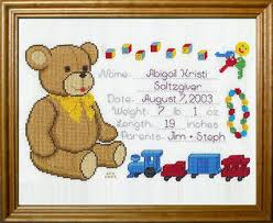 Cross Stitch Birth Announcement Patterns Free