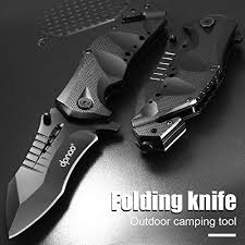 dpnao DP-10 <b>Folding knife Portable</b> Pocket Escape Emergency ...
