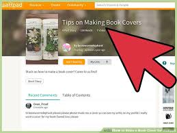 Make A Cover Page Online 4 Ways To Make A Book Cover For Wattpad Wikihow