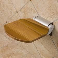 teak modern folding shower seat bathroom intended for plan 17