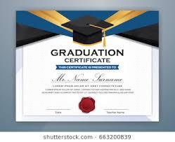 Graduation Certificate Images Stock Photos Vectors Shutterstock
