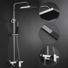 contemporary shower heads. Contemporary Shower Faucet With 8 Inch Head + Hand FSC001 Heads