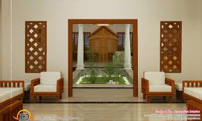 Beautiful Houses Interior In Kerala Google Search Courtyard - Home interior design kerala style