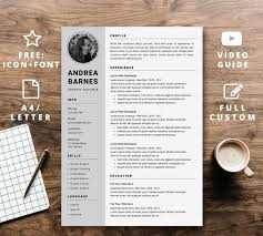 Modern Resume Instant Download Creative Cv Reference Modern Design Template Free Cover Letter Microsoft Word Cv A4 Letter