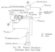 electric seat adjuster wiring diagram for 1955 studebaker studebaker truck wiring harness at Studebaker Wiring Harnesses