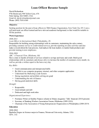 Senior Loan Officer Resume Objectives Sample Job And Resume Template