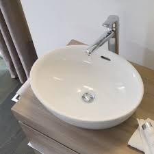 laufen pro white oval counter top basin without a tap hole 520x390x150mm