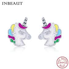 INBEAUT <b>Hot Sale 100</b>% <b>Real</b> 925 Sterling Silver Cute Colorful ...