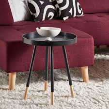 Marcella Paint-dipped Round Spindle Tray-top Side Table iNSPIRE Q Modern -  Free Shipping Today - Overstock.com - 18534802
