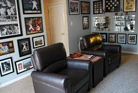 sports office decor. framed collage sports memorabilia we are going to have do this with all office decor