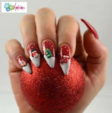 Christmas Nail Art Pointy Nails - Best Nail Ideas