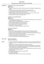 Resume Analyzer Analysis Technician Resume Samples Velvet Jobs 1
