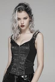 Poison Ivy Black Corset Top by Punk Rave   Ladies Gothic