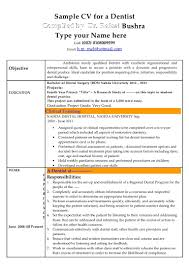 Awesome Dental Resume Format Composition Documentation Template