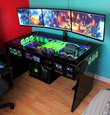 amazing pc desk setup innovative gaming computer desk setup top with gaming pc desk ideas