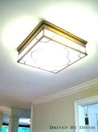 low profile led can light flush mount lights fluorescent lighting kitchen ceiling in false