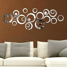 silver wall decal 6 circles mirror wall sticker silver wall decals fashion new home decor size silver wall decal