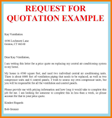 Request For Quote Template