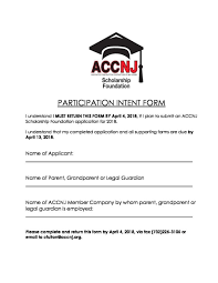 Scholarship Aplication Form 2018 Accnj Scholarship Application Forms Associated