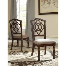 signature design by ashley leahlyn brown dining uph dining chair set of 2