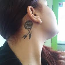 Dream Catcher Tattoo Behind Ear 10000 Ear Tattoos See Which Made Our 100 Tattoos Beautiful 17
