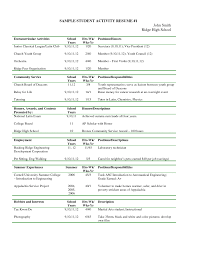 Examples Of Extracurricular Activities To Put On Resume Extra