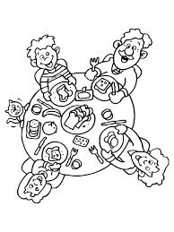 Familie Tafel Ontbijten Knutselpaginanl Knutselen