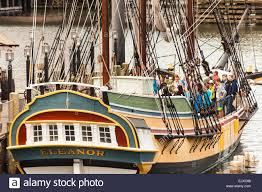 Eleanor, replica of one of the Boston Tea Party ships, outside ...