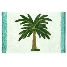 palm tree bath mat set rug by on free