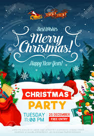 Christmas Invitation Card Christmas Party Poster Or Invitation Card Happy New Year And