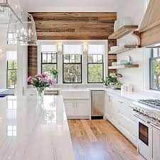 White kitchen light wood floor Transitional Style Beautiful Wood Paneling And Floors To Contrast With The White Cabinets In Kitchen Vs Ice White Shaker Kitchen Cabinets Wood Apptivitiesco White Kitchen Light Wood Floor Photo Cabinets Cupboards