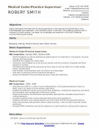 Medical Coding Practice Charts Medical Coder Resume Samples Qwikresume