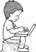 情報コミュニケーション技術イラストなら小学校中学校幼稚園向け