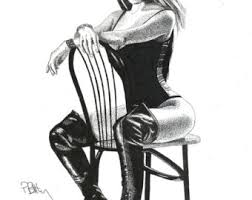 fashion boots drawing. art print - pen \u0026 ink drawing, a4 kinky boots fashion drawing