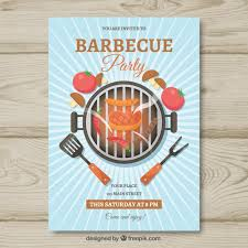 barbecue invitation template free flat bbq invitation template vector free download
