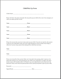 Daycare Form Impressive Home Day Care Forms Printable Angels Daycare Child Pickup Form Free