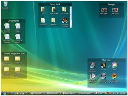 office organizer software. a desktop organized with fences shaded areas office organizer software r
